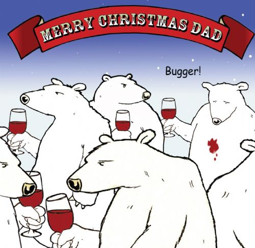 CAN14 – Merry Christmas Dad Card Bugger Bear